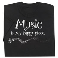 Music Is My Happy Place T-Shirt