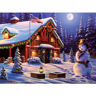 Cowboy Christmas 1000 Piece Jigsaw Puzzle