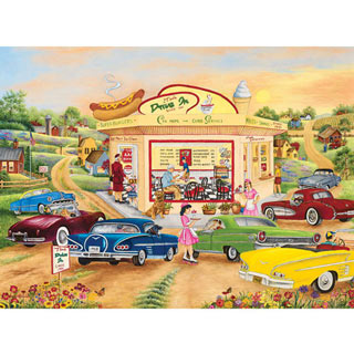 The Drive In 300 Large Piece Jigsaw Puzzle