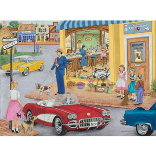 The Corner Drug Store 300 Large Piece Jigsaw Puzzle