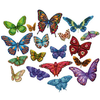 Mini Butterfly 500 Piece Shaped Puzzles