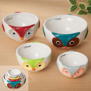 Ceramic Nesting Owl Measuring Cups