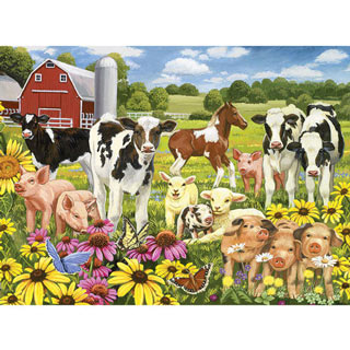 Calves And Friends 1000 Piece Jigsaw Puzzle
