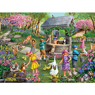 Wishing Well 1000 Piece Jigsaw Puzzle
