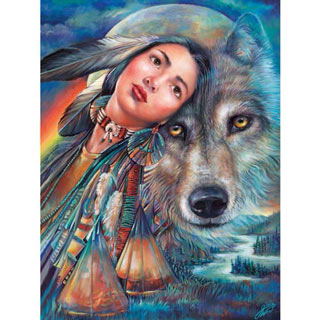 Dream Of The Wolf Maiden 500 Piece Jigsaw Puzzle
