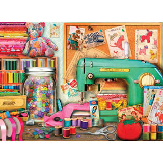 The Sewing Desk 1500 Piece Jigsaw Puzzle