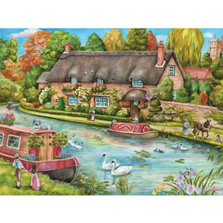 Canal Cottage 300 Large Piece Jigsaw Puzzle