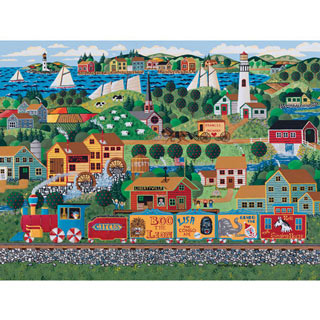 Circus Train 1000 Piece Jigsaw Puzzle