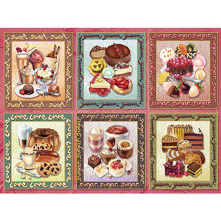 Chocolate Delight Quilt 500 Piece Jigsaw Puzzle