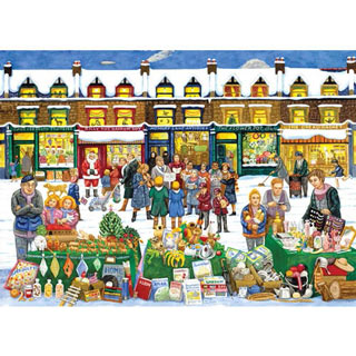 Alphabet Christmas Market 300 Large Piece Jigsaw Puzzle