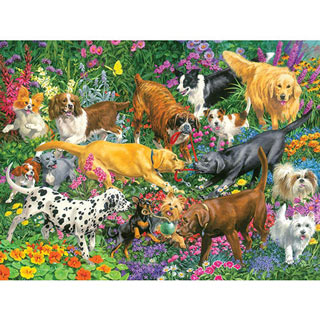 Playful Dogs 300 Large Piece Jigsaw Puzzle