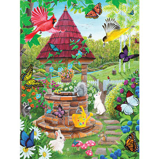 Wishing Well Garden 300 Large Piece Jigsaw Puzzle