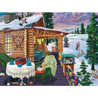 Twilight Skaters 300 Large Piece Jigsaw Puzzle