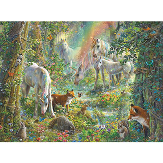 Unicorn Meadow 1000 Piece Glitter Jigsaw Puzzle