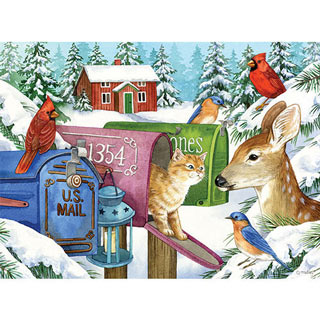 Winter Mailboxes 1000 Piece Jigsaw Puzzle