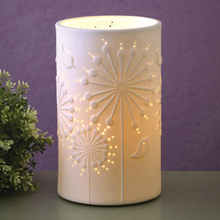 Dandelion Flower Porcelain Lamp