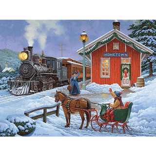 Home For The Holidays 1000 Piece Glow-In-The-Dark Jigsaw Puzzle