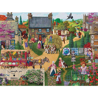 Town Vendor 300 Large Piece Jigsaw Puzzle