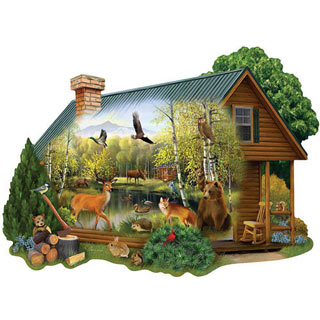 Cabin In The Wild 300 Large Piece Jigsaw Puzzle