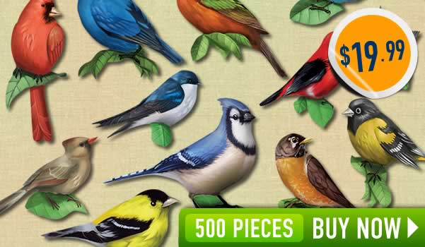 Mini Bird Shaped Puzzles