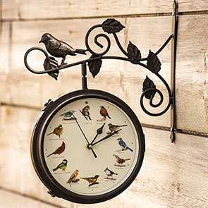 2-In-1 Singing Bird Clock & Thermometer