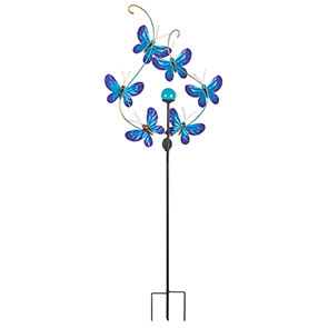 Blue Butterfly Wind Spinner