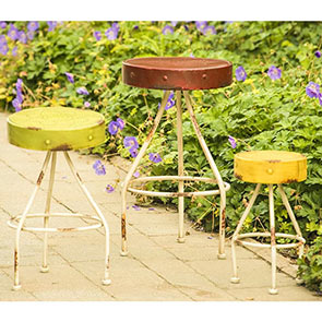 Colorful Metal Plant Stands – Set of 3