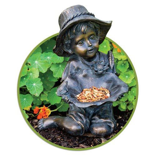 Little Boy Bird Feeder