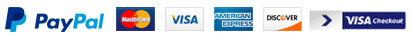 Payment options - Paypal Master Card Visa American Express Discover