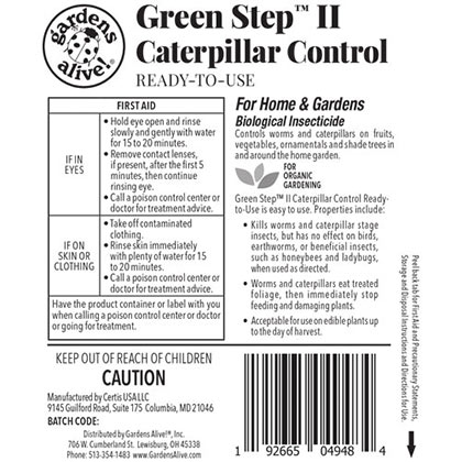 Green Step™ II Caterpillar Control