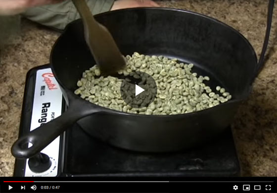 Roasting Coffee Beans Video