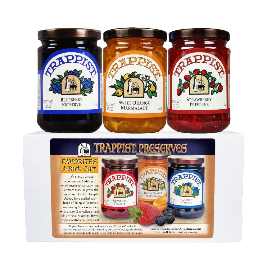 Trappist Preserves Favorites 3-Jar Gift