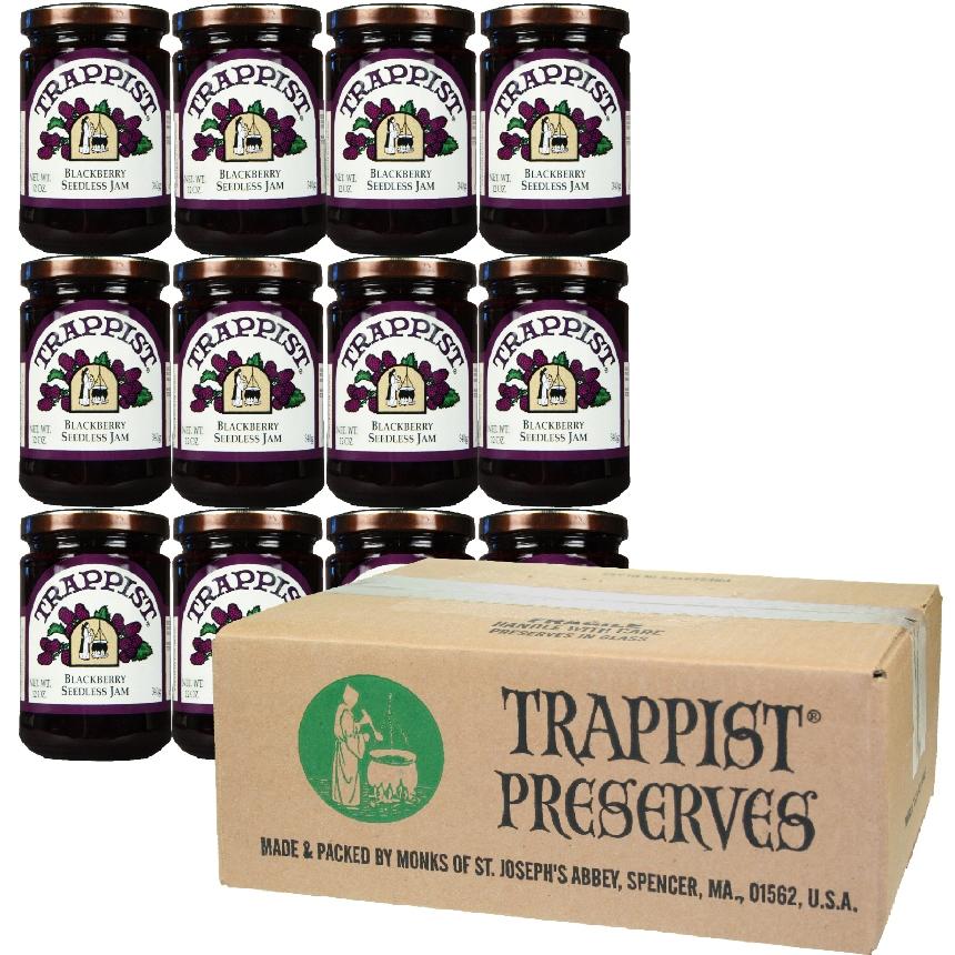 Trappist Preserves - Blackberry Seedless Jam (12-Jar Case)