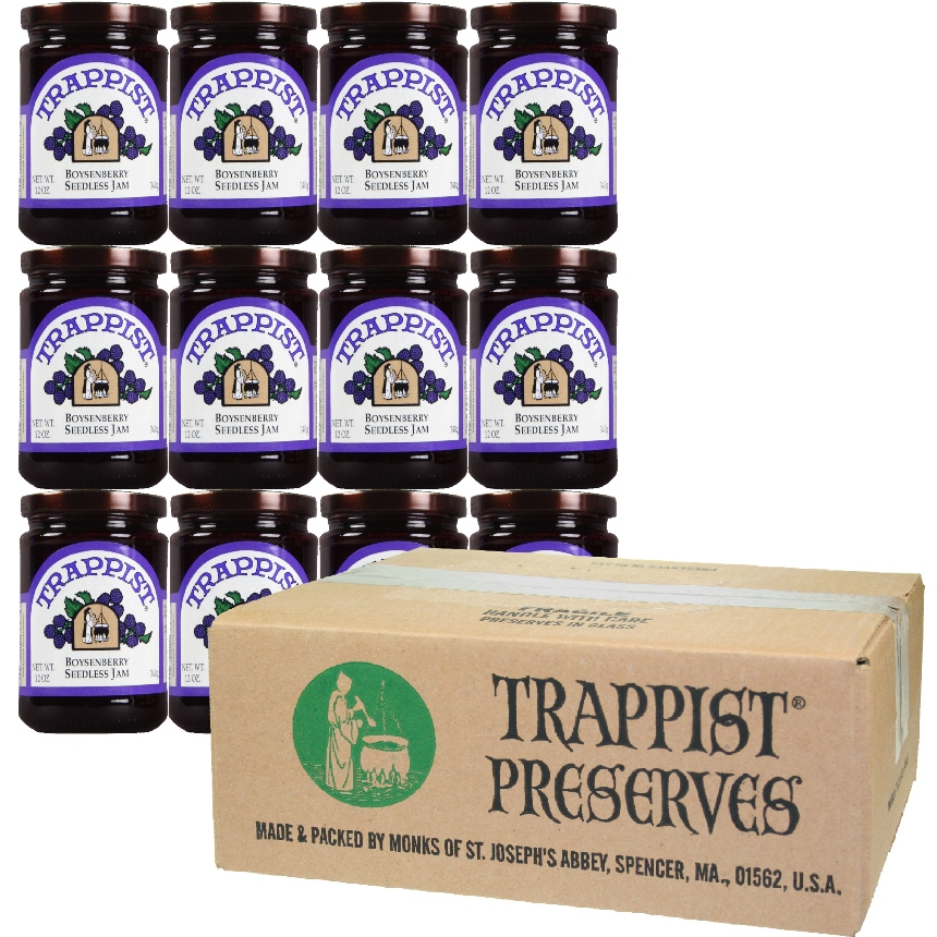 Trappist Preserves - Boysenberry Seedless Jam (12-Jar Case)