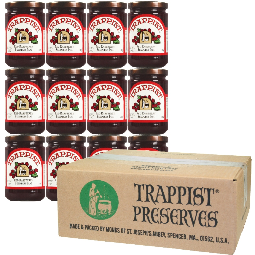 Trappist Preserves - Red Raspberry Jam - NO SEEDS (By the Case)