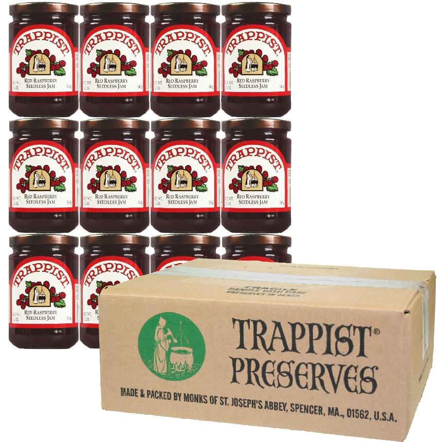 Trappist Preserves - Red Raspberry Jam - NO SEEDS (12-Jar Case)