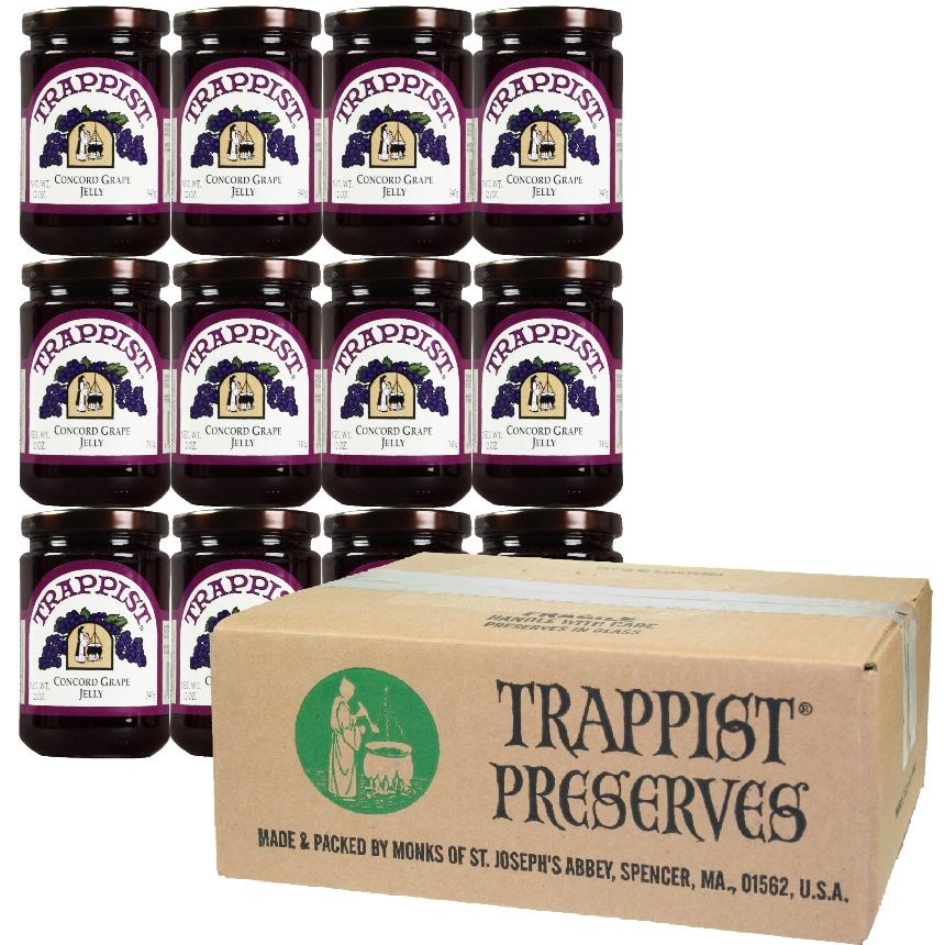 Trappist Preserves - Concord Grape Jelly (12-Jar Case)