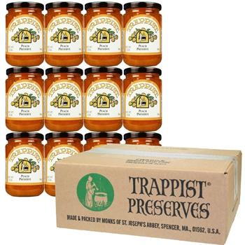 Trappist Preserves - Peach Preserve (12-Jar Case)