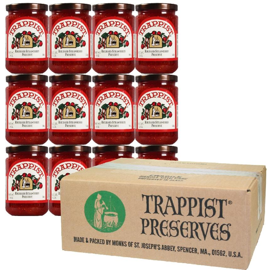 Trappist Preserves - Rhubarb-Strawberry Preserve (12-Jar Case)