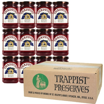 Trappist Preserves - Burgundy Wine Jelly (12-Jar Case)