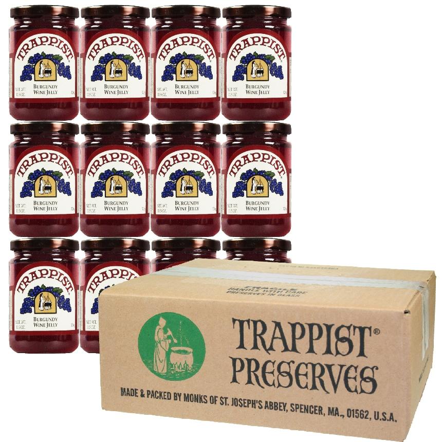 Trappist Preserves - Burgundy Wine Jelly (12-Jar Case)