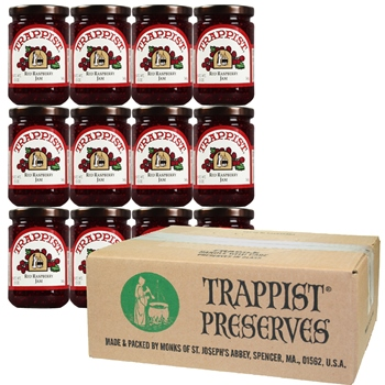 Trappist Preserves - Red Raspberry Jam WITH SEEDS (12-Jar Case)