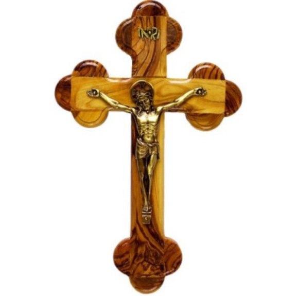 Olivewood 14-Station Crucifix
