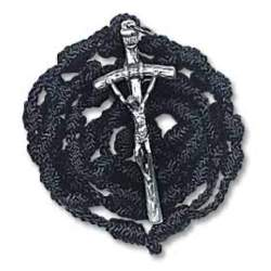 Papal Rosary (black knotted cord)