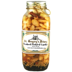 Herbed Pickled Garlic