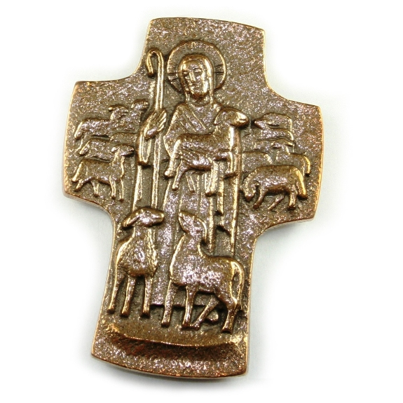 Good Shepherd Cross (bronze)