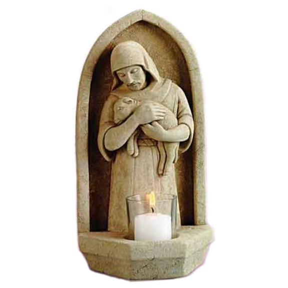 Good Shepherd Stone Votive