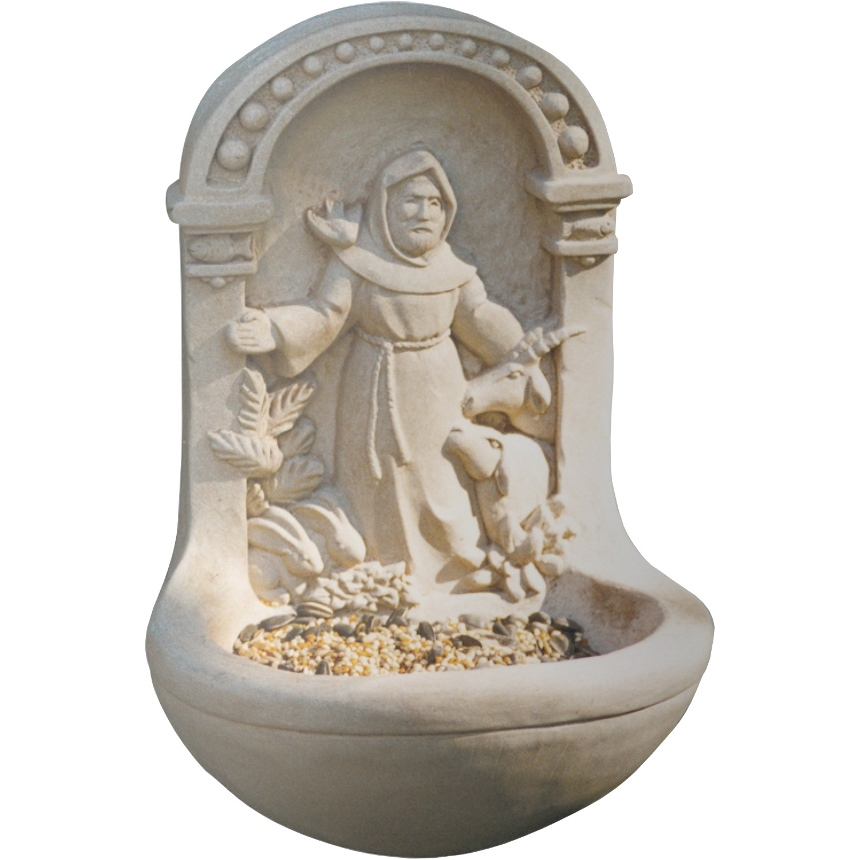 St. Francis Stone Bird Feeder