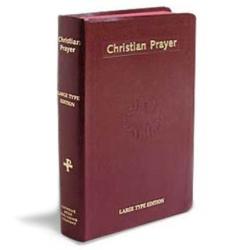 Christian Prayer (maroon large type)