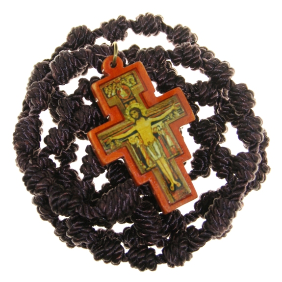 Franciscan Crown (brown cord & wood cross)